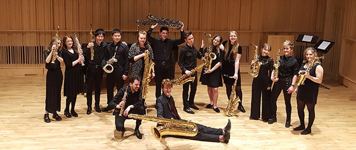 End of saxophone performance