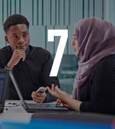 Business School - Homepage - Why Choose Us Flip Card - Graduate + Logo