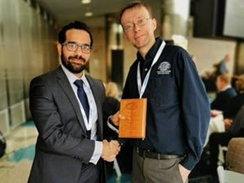CEBE's Dr Mohammad Mayouf and Professor Nick Morton