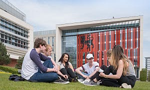 Students outside Parkside