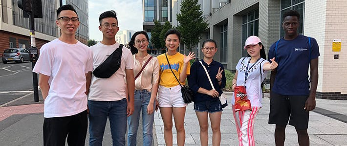 Summer School students outside City Centre campus