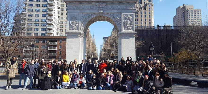 Media NYC trip group photo