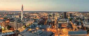 Business School - About Us - Our City 341x139 - Birmingham Skyline