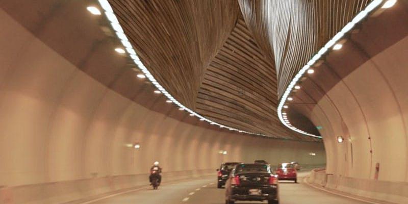 Student design idea for road tunnel