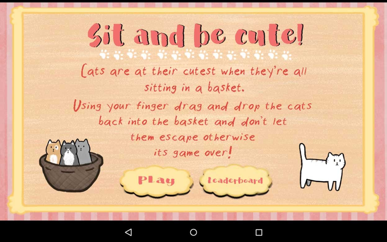 Sit and Be Cute Android Game
