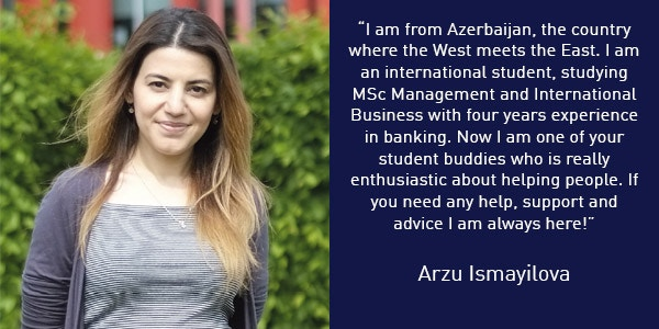 Arzu Ismayilova International Student Buddy Quote 600x300