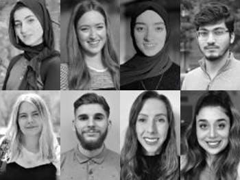 Headshots of eight BCU students chosen as Student Ambassadors