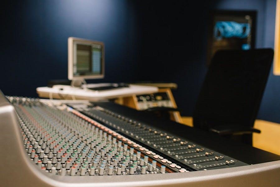 Mixing desk RBC control room