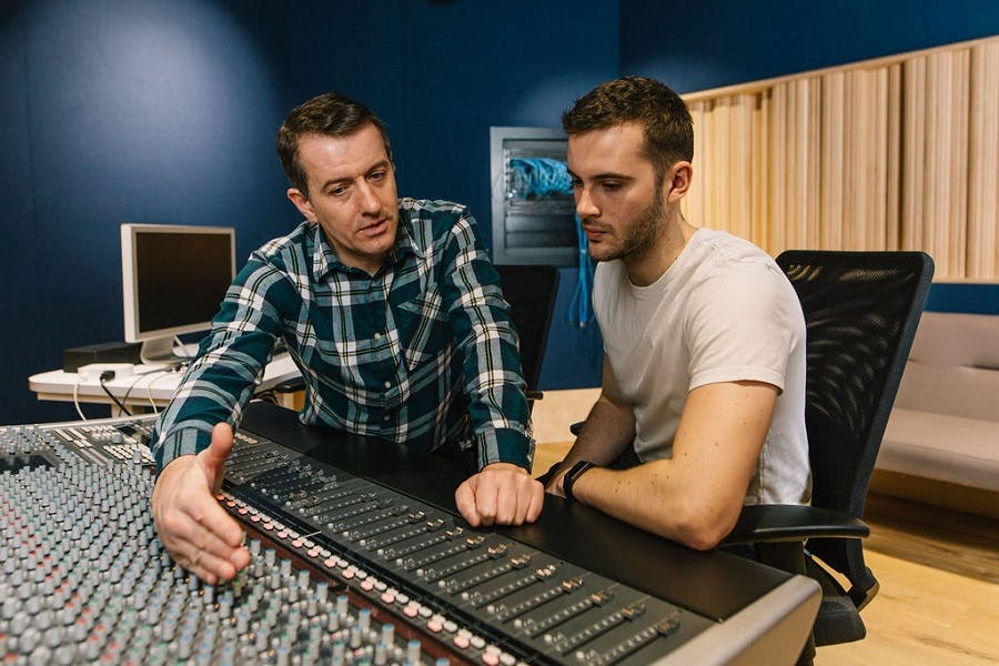 Music tech control room lesson