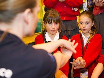 Young people at Big Bang fair