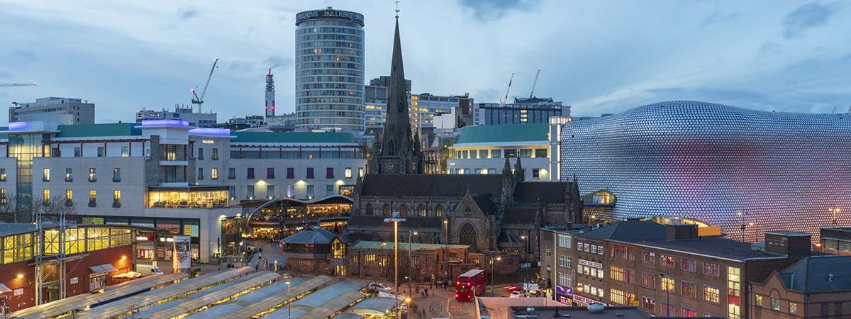 Birmingham Based Businesses Article 1200x45 - Birmingham skyline at night