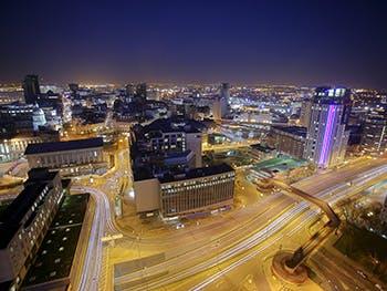 Birmingham at Night 350x263 - Night time shot of Birmingham