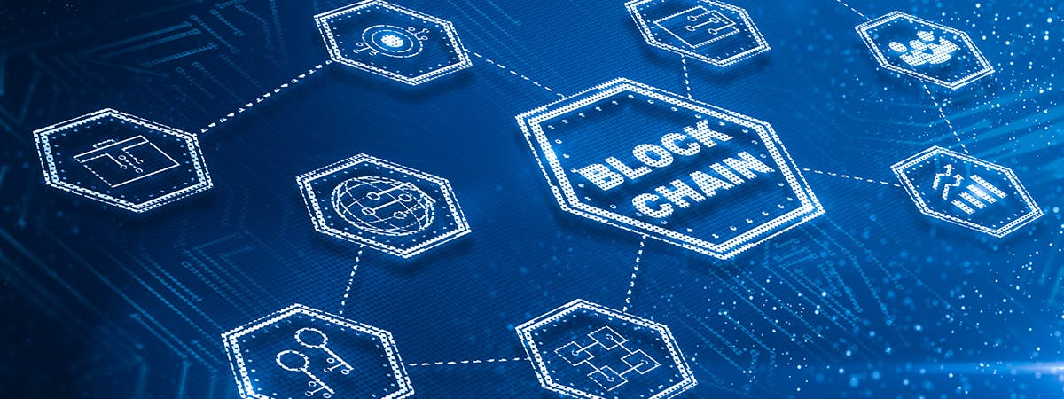 A picture of blockchain technology.