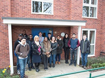 Built Environment students at a Bromford development