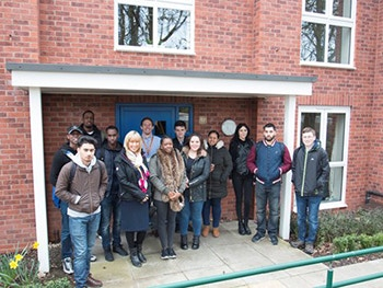 Built Environment students at a Bromford development