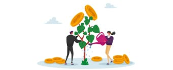 Business School Staff Pages (Finance) - 341x149 - Cartoons in front of a money tree