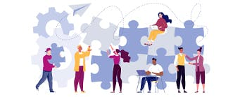 Business School Staff Pages (Management) - 341x149 - Cartoons in front of jigsaw pieces
