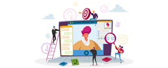 Business School Staff Pages (Marketing) - 341x149 - Cartoons in front of Marketing equipment