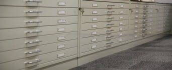 Cabinets in the Birmingham Arts and Design Archive