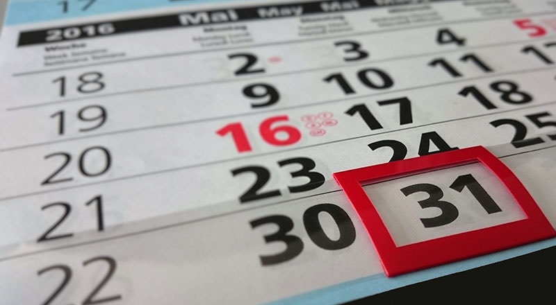Exams and revision - article- calendar