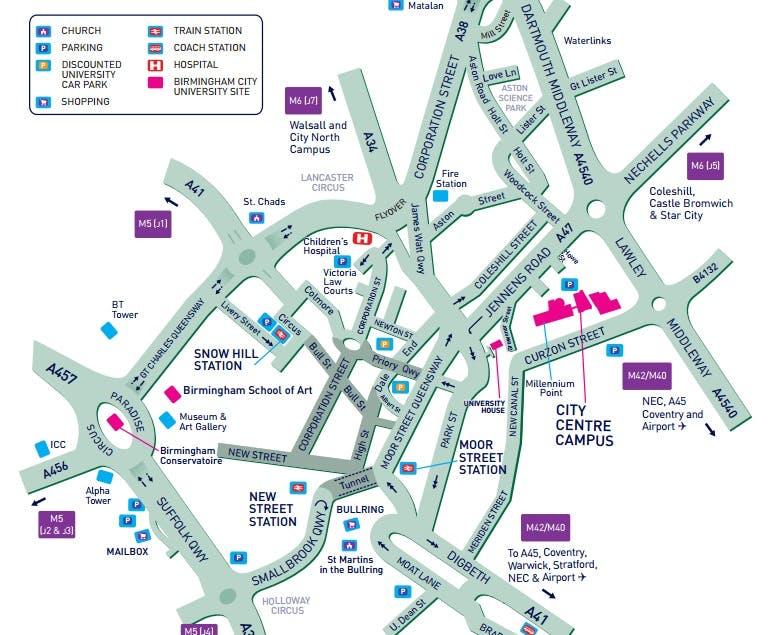 31 cool Birmingham Street Map City Centre bnhspinecom