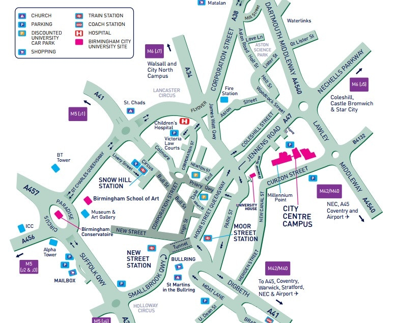 City Centre campus map preview 2015