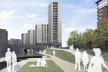 Artist's impression of No1 City Locks development