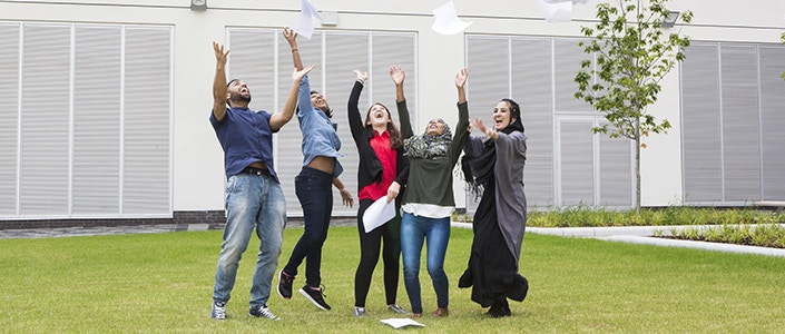 International students with results