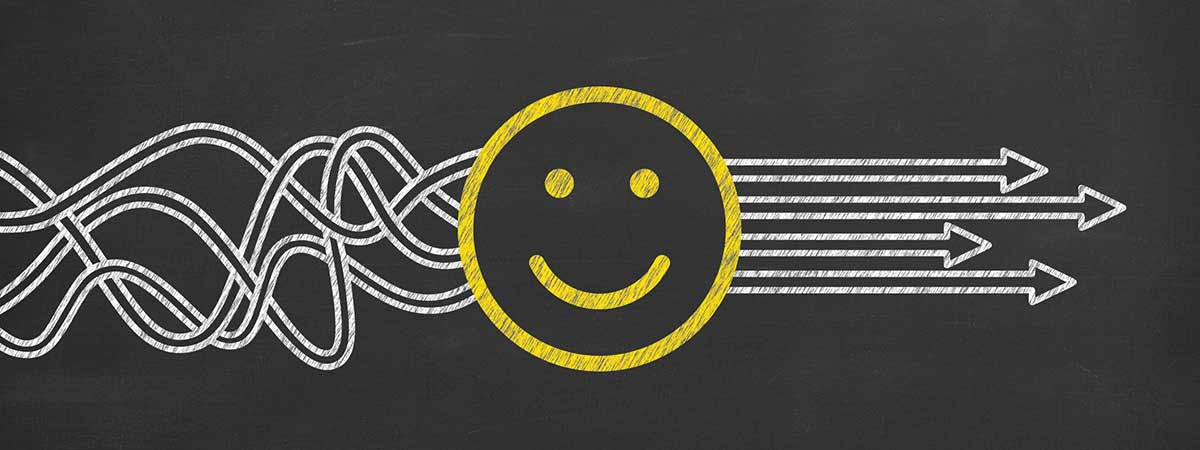 Everyday psychology tricks marketers use Image 1200x450 - Smiley face with lines behind it