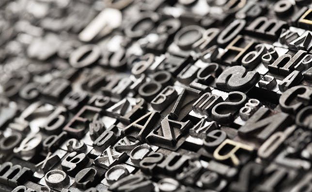 Typesetting keys