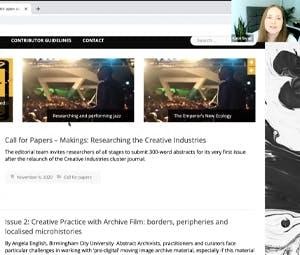 Creative industries book launch screenshot