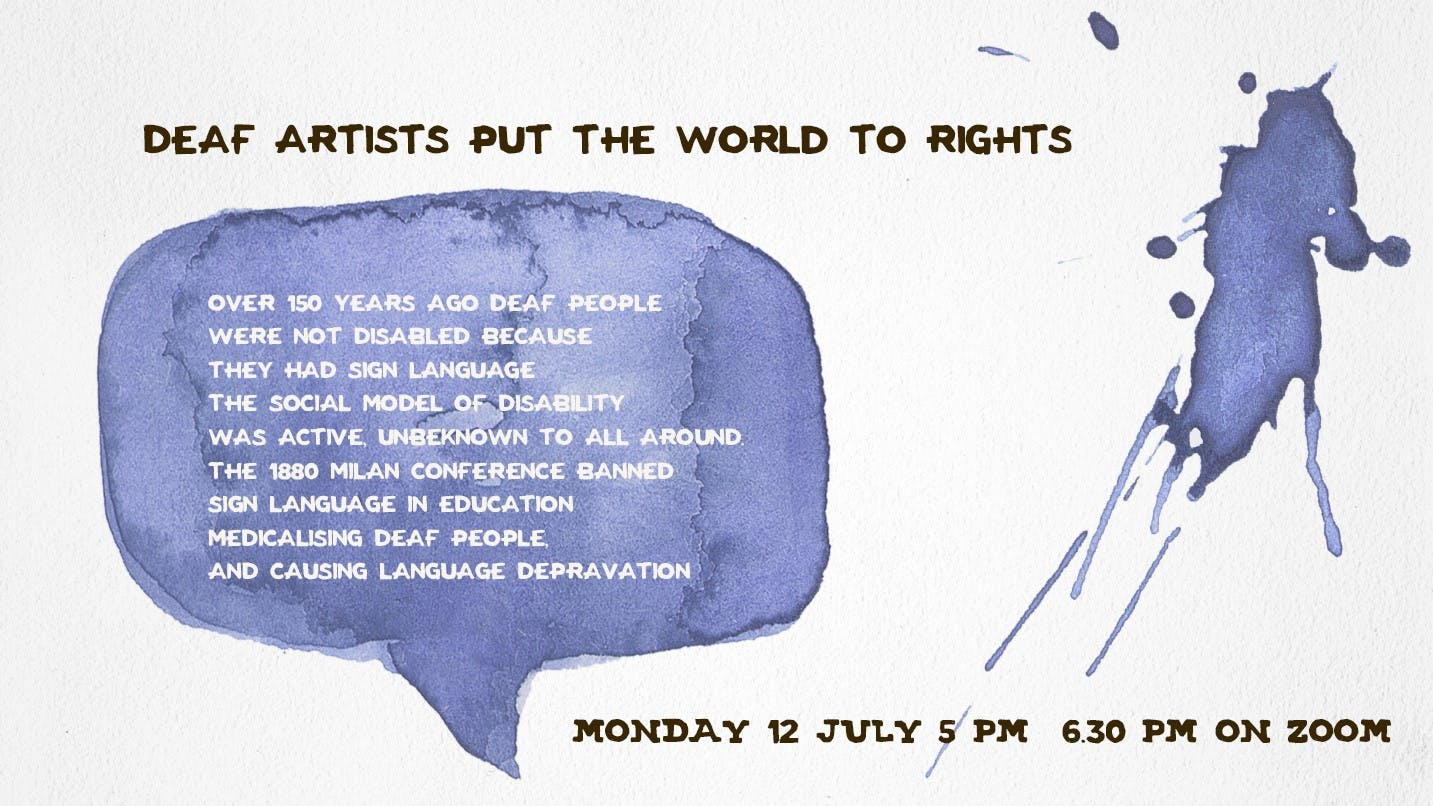 Deaf artists puts the world to rights