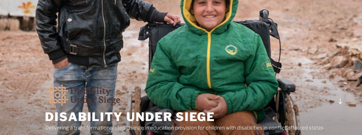 The Disability Under Siege project, which examines the role of arts and humanities in developing inclusive forms of education for children with disabilities.