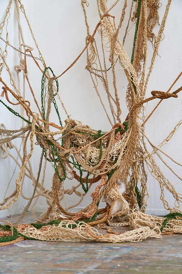 Fine Art installation: ropes tangled together