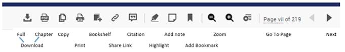 eBook Central Reader Toolbar