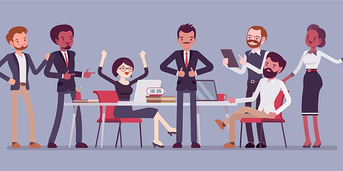 Entrepreneurial Support 700x350 - Cartoon business people