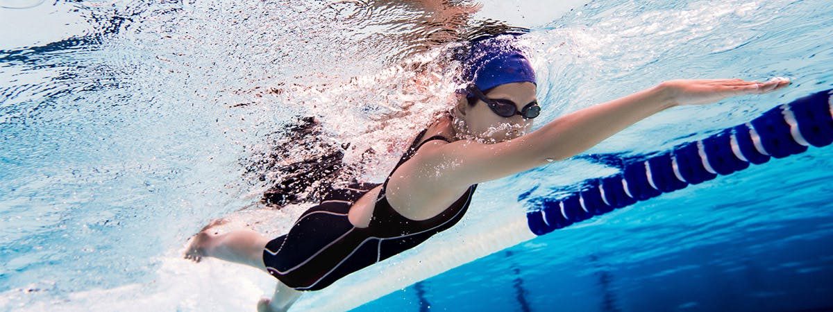 Adolescent swimmers using ergogenic aids to improve their performance.