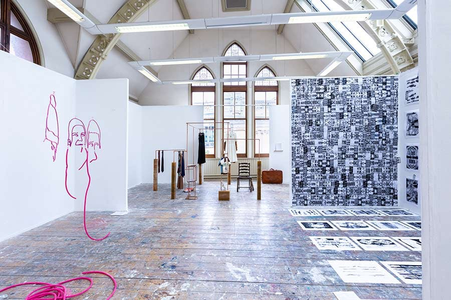 Margaret street gallery space with Fine Art work displayed