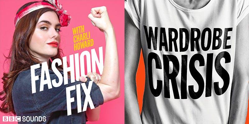 Left: Fashion Fix logo, Right: Wardrobe Crisis logo