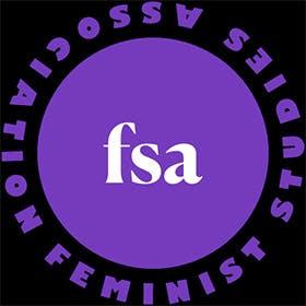 Logo for the Feminist Studies Association (FSA).