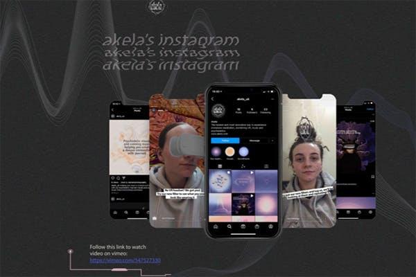 Instagram screenshots of students final year project 'akela's instagram'