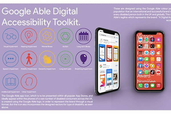 Final year design work for Google Able Digital Accessibility Toolkit