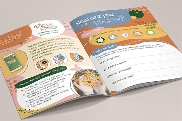 Image of a final year project wellness book