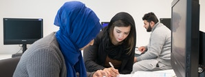 Finance and Investment MSc Course Image 1200x450 - People working at computers