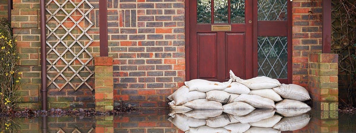 Property level flooding large