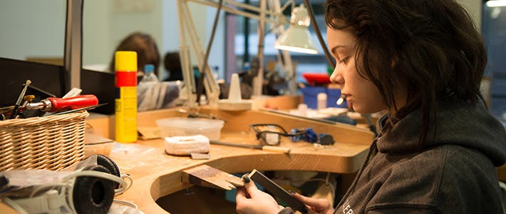Jewellery student at work