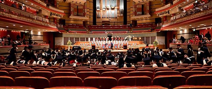 Symphony Hall during graduation ceremony