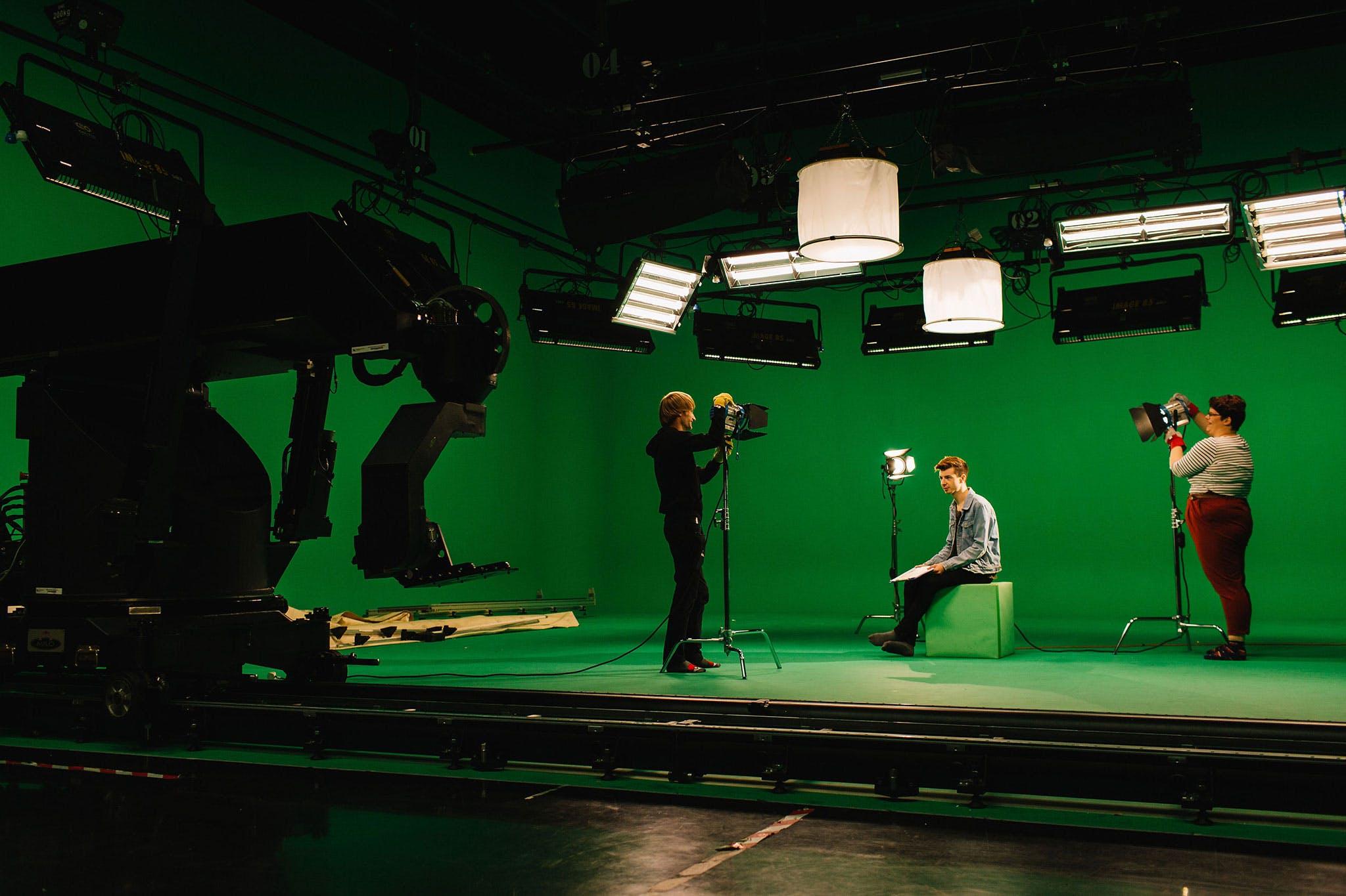 TV Studio B (Giant Green Screen)