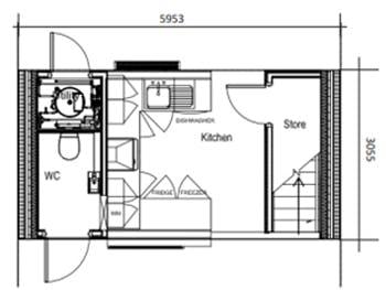 Ground floor pod layout