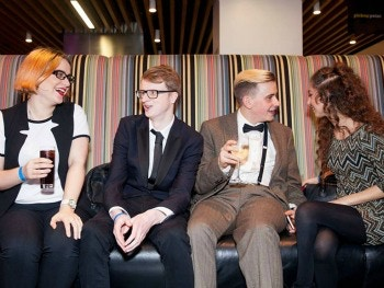 Birmingham Eastside editorial team at the Guardian headquarters for the awards ceremony